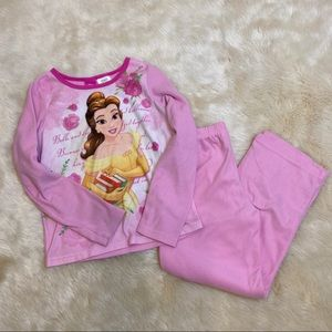 Disney Princess Bell pink fleece pajama set